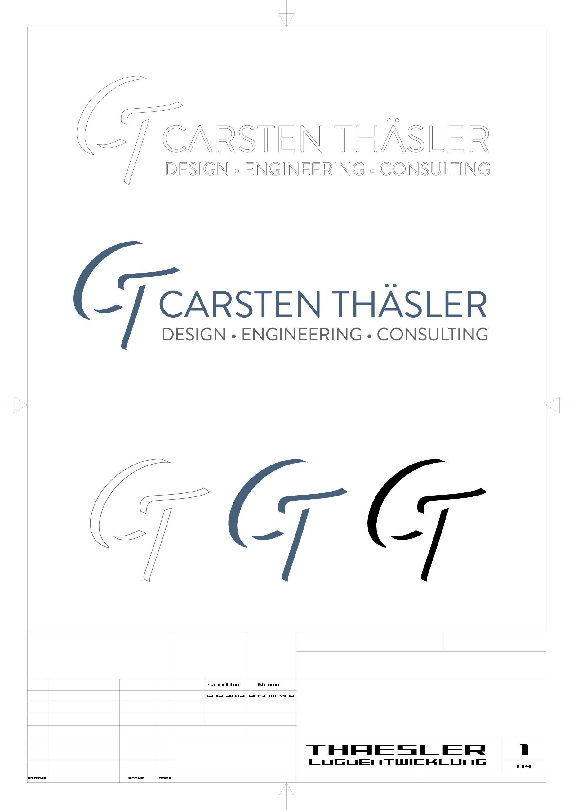 Thäsler | Logoentwicklung typografisch