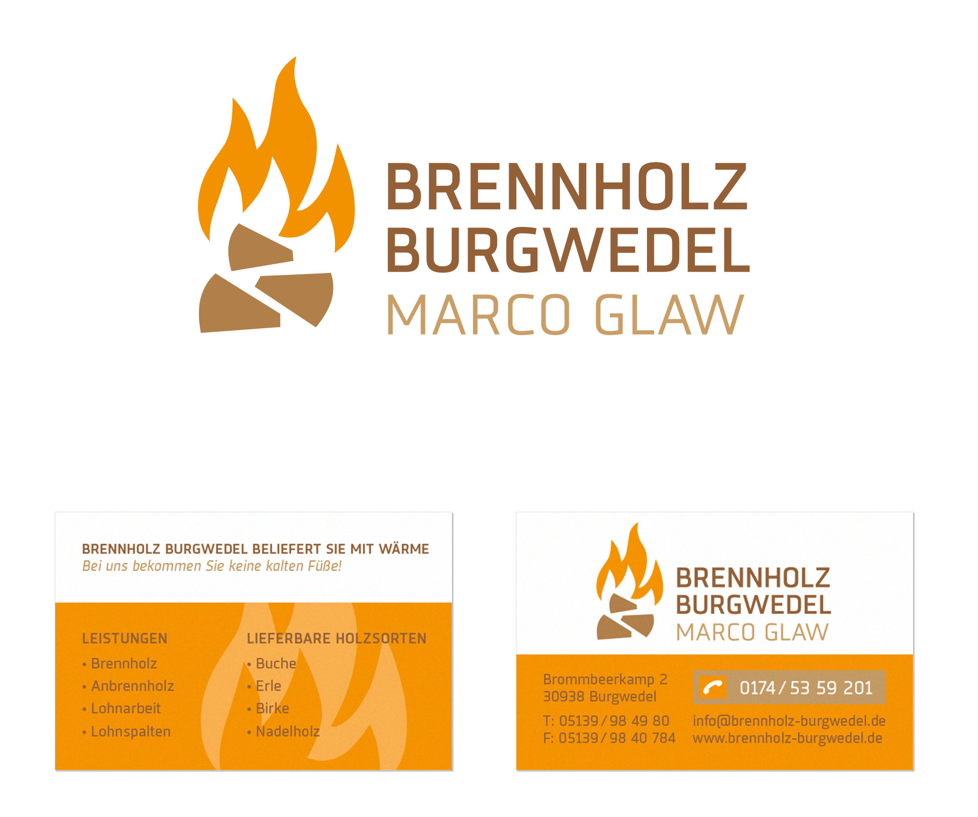 Brennholz Burgwedel Glaw | Corporate Design