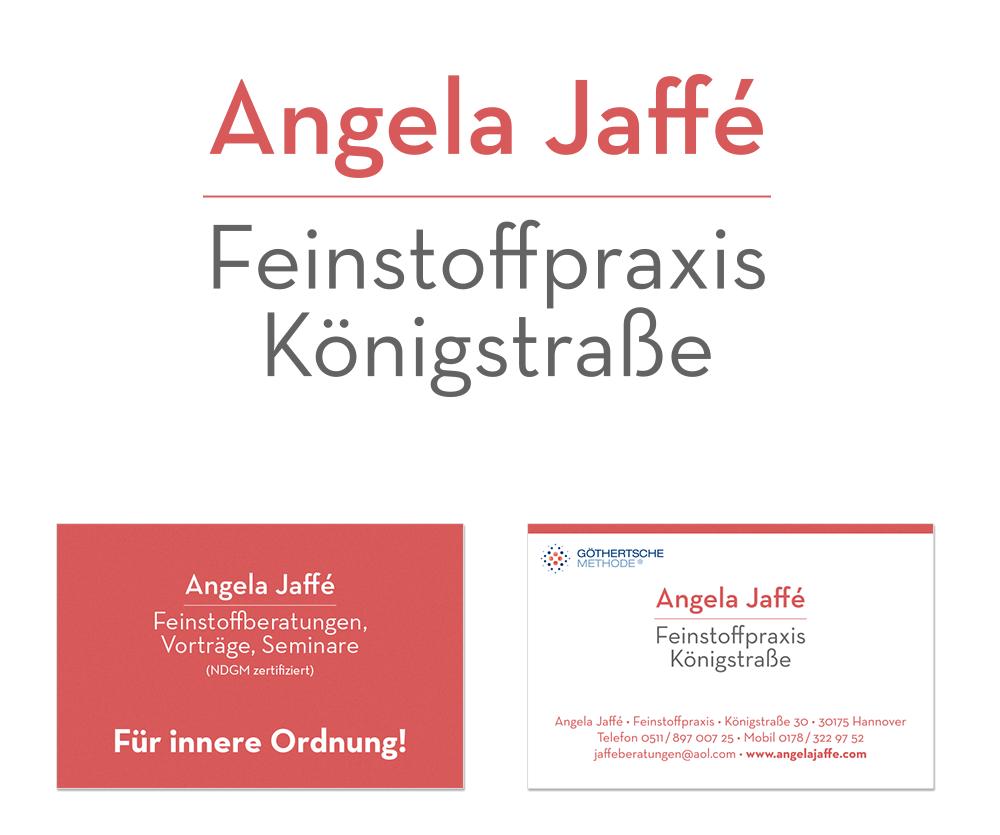 Angela Jaffé – Feinstoffpraxis